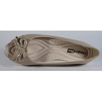 Pantofi platforma peeptoe bej piele naturala dama/dame/femei (cod 1692433)