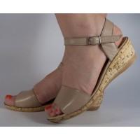 Sandale platforma bej dama/dame/femei (cod SS02)