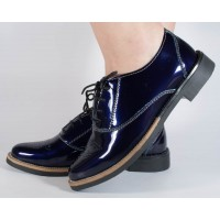 Pantofi bleumarini piele lacuita dama/dame/femei (cod SPF02)