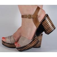 Sandale bej piele naturala dama/dame/femei (cod 2027-3)