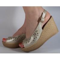 Sandale platforma aurii dama/dame/femei (cod CE048)