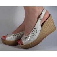 Sandale platforma argintii dama/dame/femei (cod CE048)