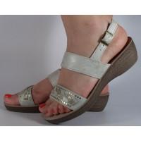 Sandale platforma albe dama/dame/femei (cod GL020)