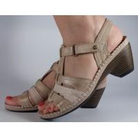 Sandale Reflexan bej piele naturala dama/dame/femei (cod 91010-22)