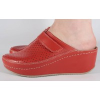 Saboti/Papuci MUBB rosii din piele naturala dama/dame/femei (cod 666)