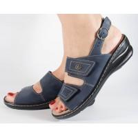 Sandale platforma albastre piele naturala dama/dame/femei (cod 4918-6)