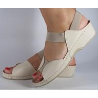 Sandale MUBB platforma piele naturala rosii dama/dame/femei (cod 245)