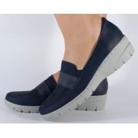 Pantofi bleumarin Reflexan de vara piele naturala dama/dame/femei (cod 21600-08)