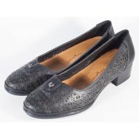 Pantofi negri perforati dama/dame/femei (cod 028521)