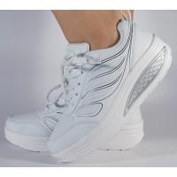 Adidasi albi talpa convexa dama/dame/femei (cod 400007)