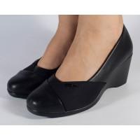 Pantofi platforma negri dama/dame/femei (cod 523011)