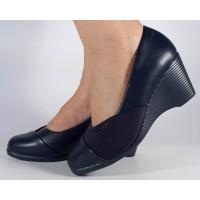Pantofi platforma bleumarini dama/dame/femei (cod 523011)