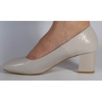 Pantofi office bej dama/dame/femei (cod 525014)