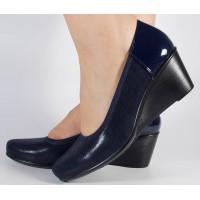 Pantofi platforma bleumarini dama/dame/femei (cod 029161)