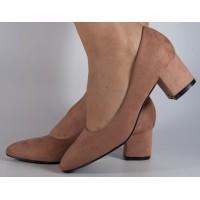 Pantofi office roz cu toc dama/dame/femei (cod Y-89)