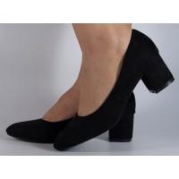 Pantofi office negri cu toc dama/dame/femei (cod Y-89)