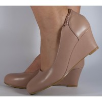 Pantofi platforma roz dama/dame/femei (cod JH130-12)