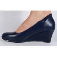 Pantofi platforma bleumarini dama/dame/femei (cod JH130-12)
