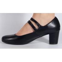 Pantofi office negru cu toc dama/dame/femei (cod V-37)