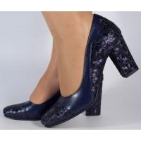 Pantofi office bleumarini piele naturala dama/dame/femei (cod 896)