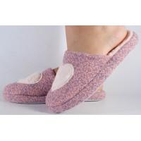 Papuci de casa roz cu gri dama/dame/femei (cod 418009)