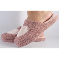 Papuci de casa roz cu negru dama/dame/femei (cod 418009)