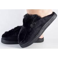 Papuci de casa negri dama/dame/femei (cod 418003)