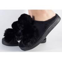 Papuci de casa negri dama/dame/femei (cod 418002)