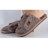 Papuci de casa maro dama/dame/femei (cod 418004)