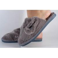 Papuci de casa gri dama/dame/femei (cod 418004)
