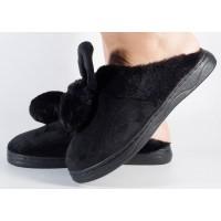 Papuci de casa negri dama/dame/femei (cod 418005)