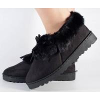 Papuci de casa negri dama/dame/femei (cod 418011)