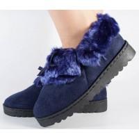 Papuci de casa bleumarini dama/dame/femei (cod 418011)
