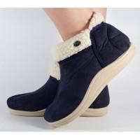 Papuci de casa bleumarini dama/dame/femei (cod 7726)