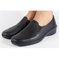 Pantofi platforma negri piele naturala dama/dame/femei (cod 02-11)