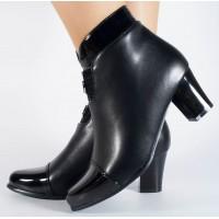 Botine negre elegante dama/dame/femei (cod 028554)