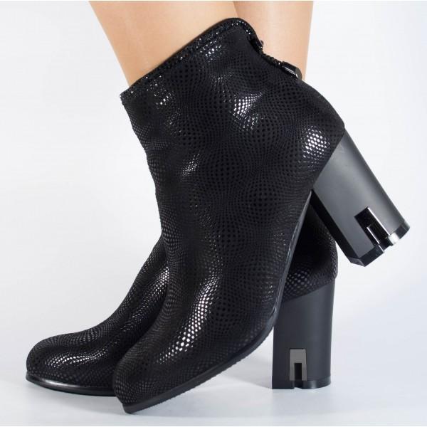 Botine elegante negre dama/dame/femei (cod 028559)